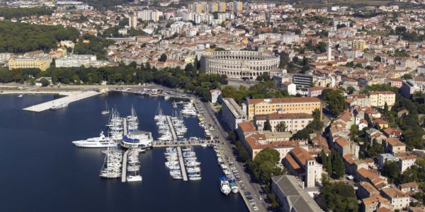 Port of Pula in Croatia